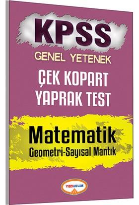 Yediiklim Yayınları Kpss 2017 Matematik Geometri Sayısal Mantık Çek Kopart Yaprak Test