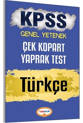 Yediiklim Yayınları Kpss 2017 Türkçe Çek Kopart Yaprak Test