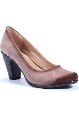 Sezen Topuklu Süet Bayan Ayakkabı