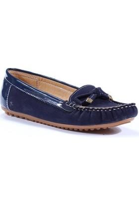 İnox Günlük Yürüyüş Fiyonklu Bayan Babet Ayakkabı
