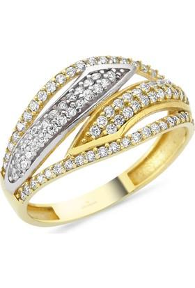 AltınSepeti Altın Sıra Taşlı Yüzük AS8Y70 16