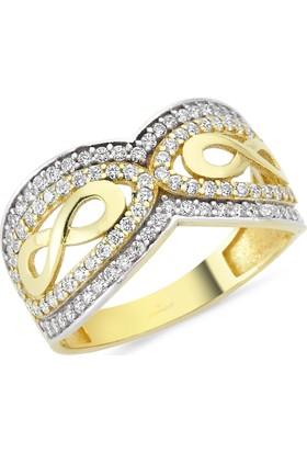 AltınSepeti Altın Taşlı Sonsuzluk Yüzük AS8Y62 16