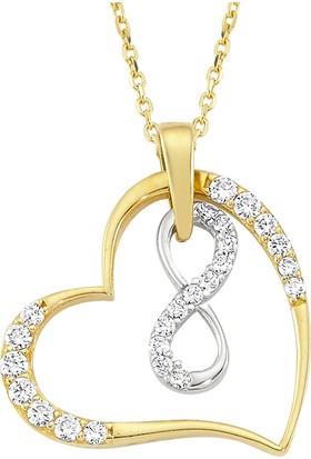 AltınSepeti Sonsuzluk Altın Kalp Kolye AS1151KL