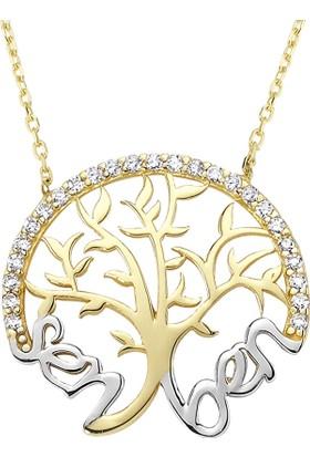 AltınSepeti Altın Sen ve Ben Aile Ağacı Kolye AS1078KL