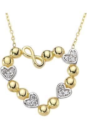 AltınSepeti Altın Sonsuzluklu Kalpler Kolye AS1071KL