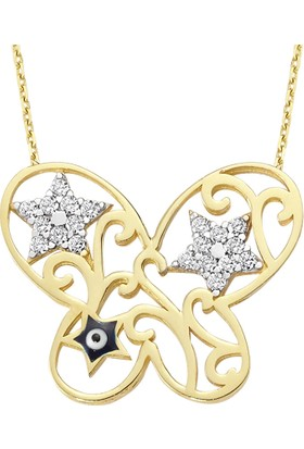 AltınSepeti Altın Yıldızlı Kelebek Kolye AS1069KL