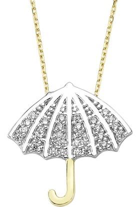 AltınSepeti Altın Şemsiye Kolye AS1044KL