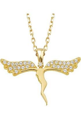 AltınSepeti Büyük Kanatlı Altın Peri Kolye AS491KL