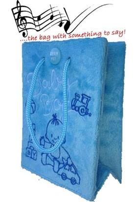 Vago MindsMüzikli / Hediyelik Çanta - Erkek Bebek- Gülücükler Melodili