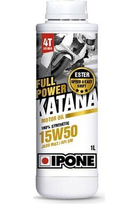 Prc Ipone Full Power Katana / (15W50) 4T Esterli %100 Sentetik Performans Motor Yağı (1L)