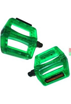 """Xlc Pedal Bmx B107Pc Transparan Yeşil 9/16"""" Cr-Mo Mil"""