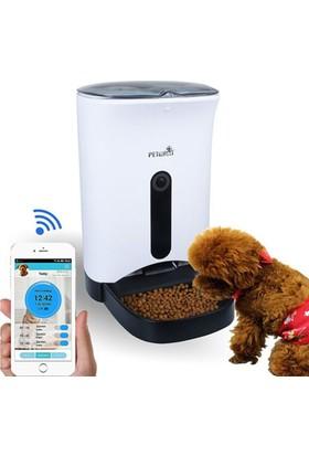 Case 4U Petwant Kameralı Akıllı Otomatik Kedi/Köpek Mama Kabı