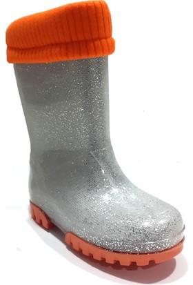 Hobi Store Çocuk Yağmur Çizmesi ( Turuncu Simli )