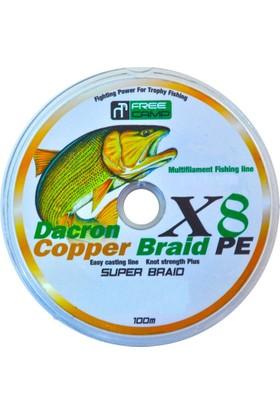 Freecamp Copper 8 Braid Misina 0.50mm 100mt