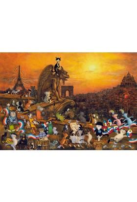 Heye 1000 Parça Puzzle - Paris'teki Kediler