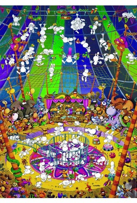 Heye 1000 Parça Çılgın Sirk Puzzle (Guillermo Mordillo)