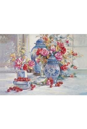 Puzz 500 Parça Kiraz ve Çiçekler Puzzle