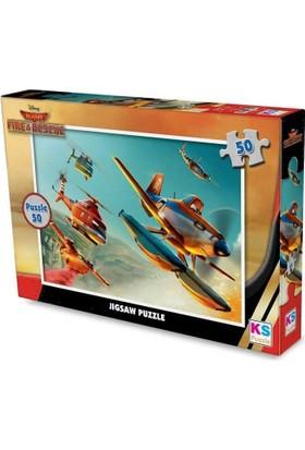 Ks Games Planes Çocuk Puzzle (50 Para)