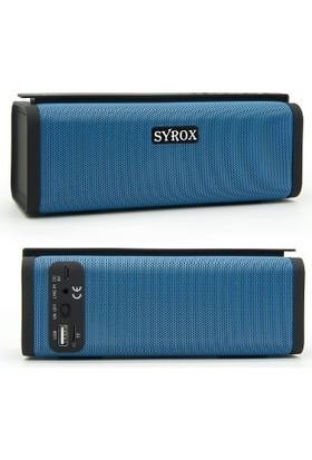 Syrox Syrox Bluetooth Hoparlör & Fm Radio & Microsd Card Mavi - S-14