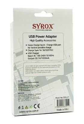 Syrox Syrox İphone 5, 5S, 6, 6S Şarj Aleti
