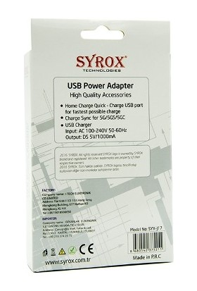 Syrox İphone 5S Şarj Aleti - Syrox - J17