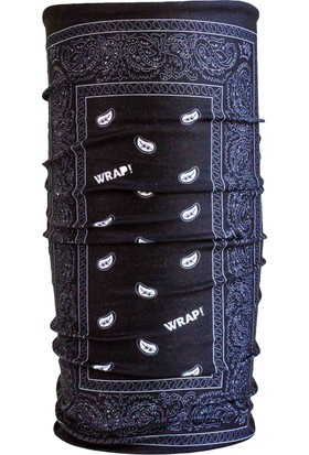 Wrap Paısley Black Uv Korumalı Bandana