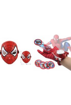 Trend Elektro Süper Kahramanlar Spiderman Işıklı Maske Ve Aksiyon Eldiveni Seti