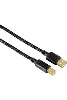 Hama USB 2.0 A Fiş - B Fiş Altın Uç Siyah 1.5m