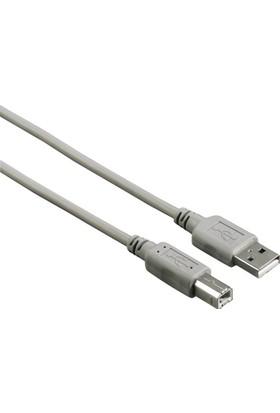 Hama USB 2.0 A Fiş - B Fiş Gri 3m