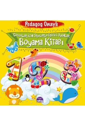Çocuklar İçin Sayılarla Eğitici Oyunlar Boyama Kitabı