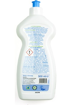 Klar Organik Bulaşık Yıkama Sıvısı - Kokusuz 500 Ml.