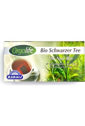 Karali Organik Siyah Çay Süzen Poşet 20 Adet