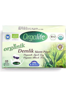 Karali Organik Siyah Çay Demlik Poşet 48 Adet