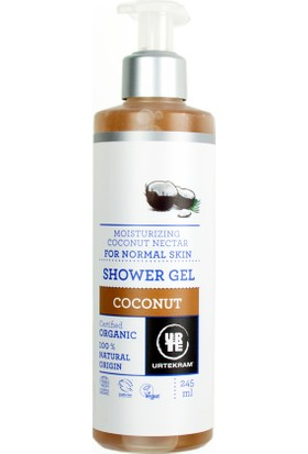 Urtekram Organik ve Vegan Duş Jeli - nemlendirici hindistan cevizi nektarı 245 Ml.