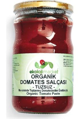 Ekoloji Market Organik Domates Salçası - Tuzsuz 660 cc.