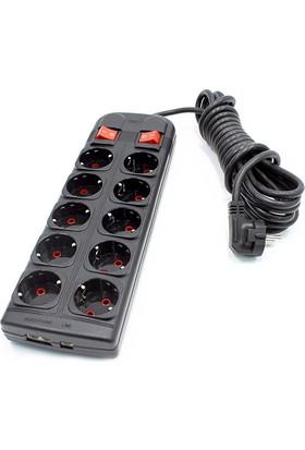 Sistem 5+5 Birbirinden Bağımsız Akımlı Anahtarlı Grup Priz 090510