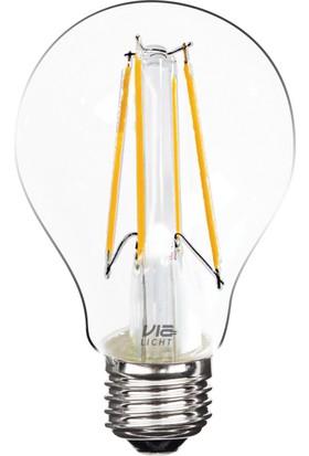Vialicht Led Ampul 7W (60W) Fılament A60 - Cog/E27 810Lm 270° 2700K