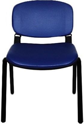 Türksit Form Sandalye 2'li Mavi - Kumaş