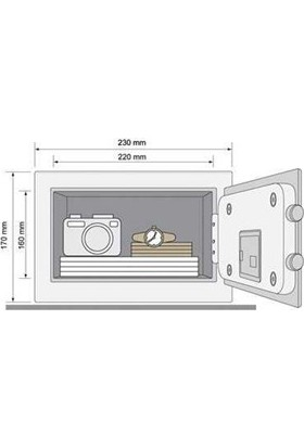 Yale Dijital Mini Boy Kollu Kasa - Beyaz - YSV/170/DB1/W