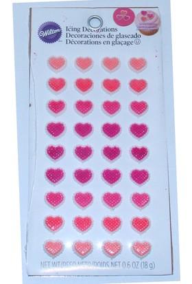 Wilton Wilton Yenilebilir Dekorasyon Şekeri Kalpler (18 gr)