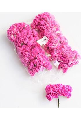 Yapay Çiçek Deposu 144lü Mini Lateks Gül Pembe
