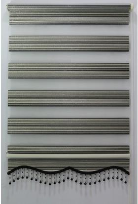 Techstor Abant Serisi Siyah Simli Zebra Perde 40 x 200 cm
