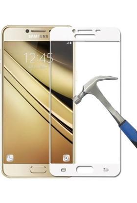 Teleplus Samsung Galaxy C7 Full Kapatan Cam Ekran Koruyucu Cam Ekran Koruyucu