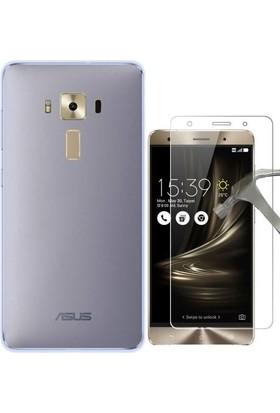 Teleplus Asus Zenfone 3 Ze552Kl Tam Korumalı Silikon Kılıf + Cam Ekran Koruyucu