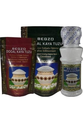 Begzo Doğal Kristal Kaya Tuzu 3 ürün bir arada