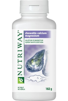 Amway Nutriway Chewable Calcium Magnesium 80 Tablet