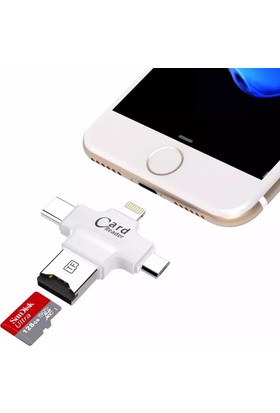 Melefoni USB Lightning, Type C, Micro USB Flash Bellek OTG 3 in 1