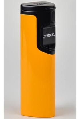 Lubinski Dokunmatik 3 Torch Sarı Puro Çakmak Tr881