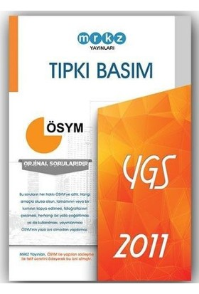 Merkez Yayınları Ygs Tıpkı Basım Ösym 2011 Deneme