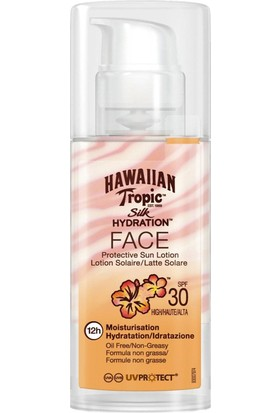Hawaiian Tropic Lotion Silk Hydration Face Spf30 50Ml